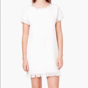 MANGO Short Sleeve Fringe Shift Dress - 2